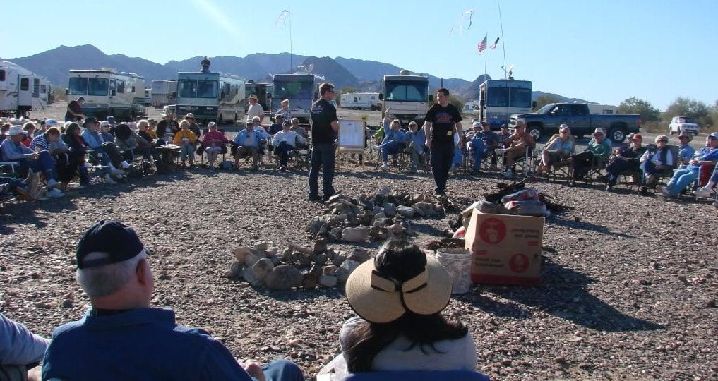 winter camping in Quartzsite