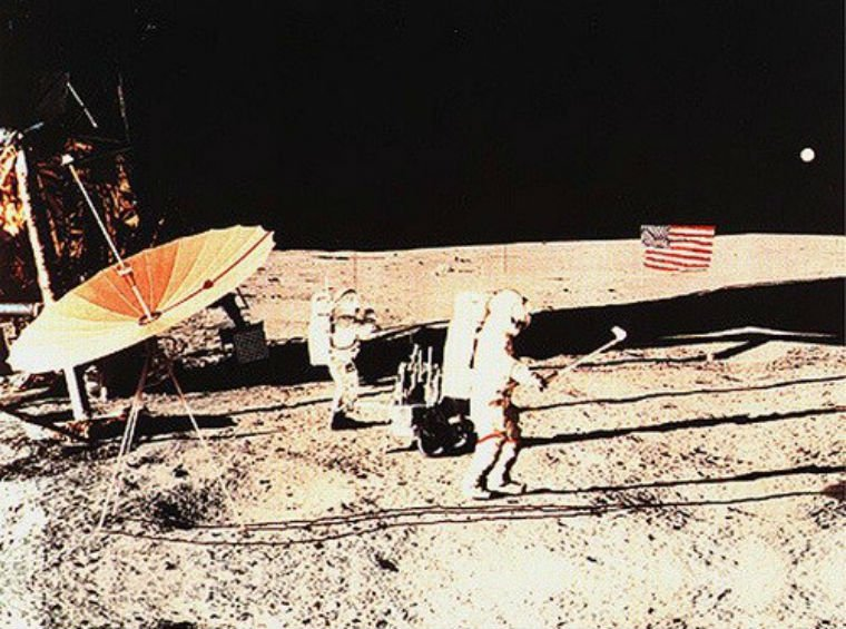 "Scientists ""guesstimate"" that astronaut Alan Shepard's ball traveled more than 900 yards. On earth, it would have made it to roughly 200 yards."