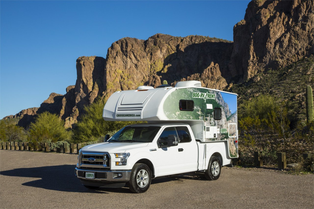 try a truck camper rental on for size with cruise america rv life. Black Bedroom Furniture Sets. Home Design Ideas
