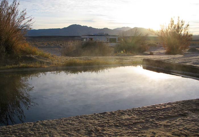 Hot Springs in Nevada and Southern California