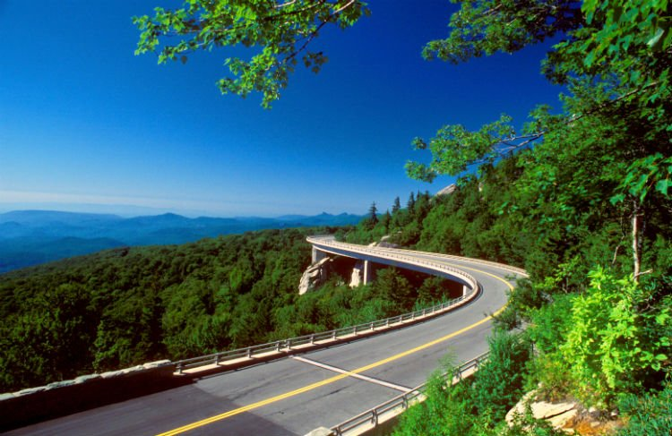 LEAD Blue Ridge Prkwy Linn Cove Viaduct Road and Mountain View Bill Russ — VisitNC