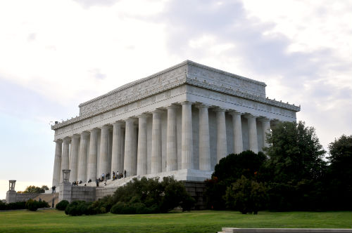 Lincoln Memorial is located on the west end of The National Mall and is directly adjacent to the Washington Monument.