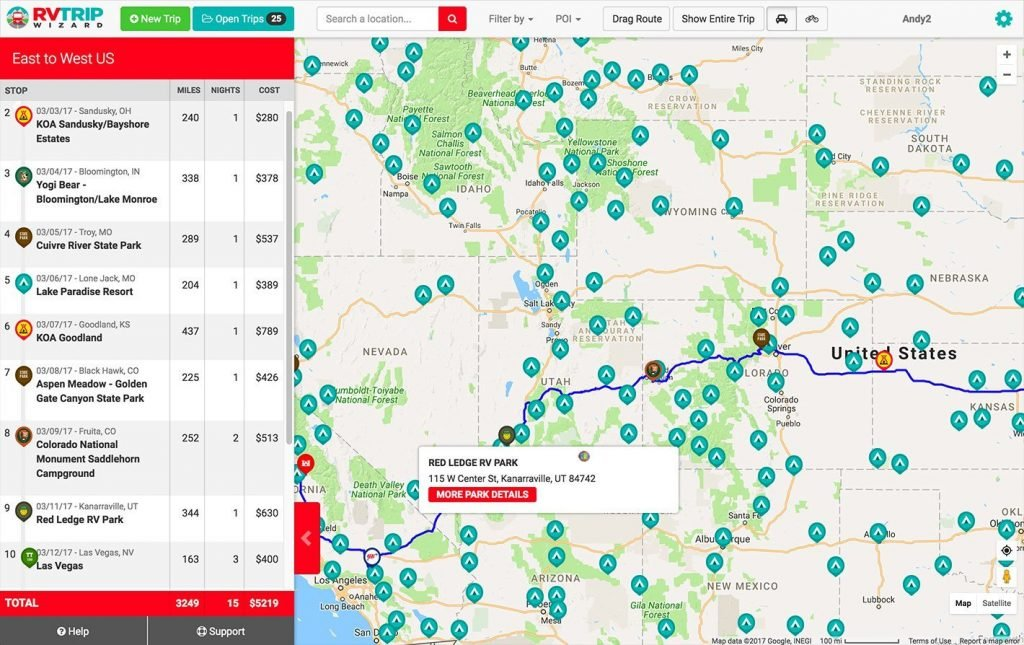 best RV trip planning apps