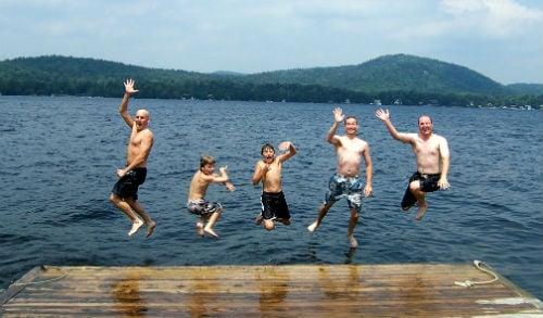swimming lake placid