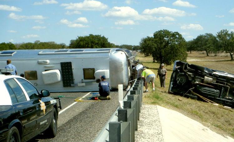runaway trailer wreck