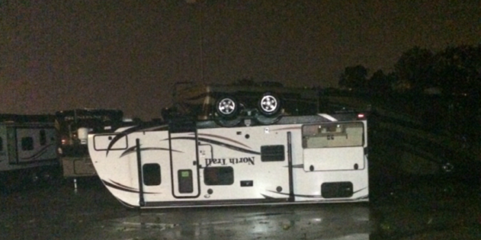 high winds can flip RVs
