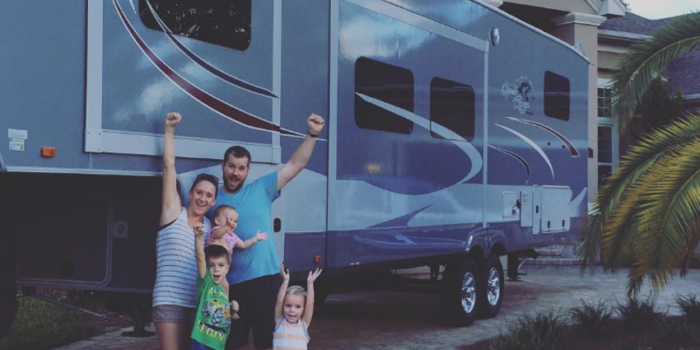 full-time RVing couples with kids
