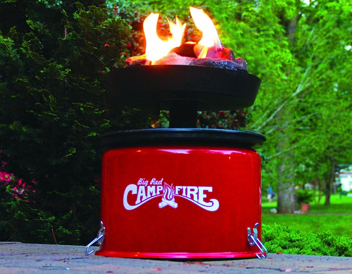Portable Propane Big Red Campfire Is A Safe Alternative