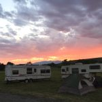 Camping Along The Yellowstone River In Montana