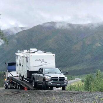 Alaska Highway RV Driving