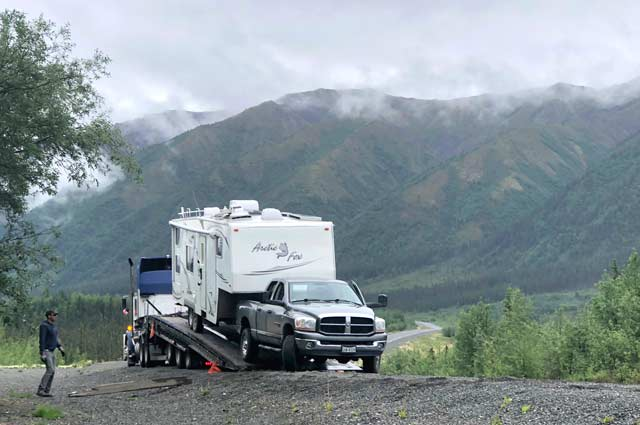Alaska Highway RV Driving