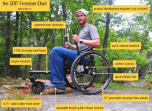 Push Yourself In The GRIT Freedom Chair All-Terrain Wheelchair