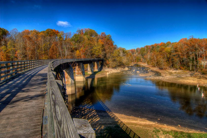 The Virginia Creeper Trail near Abingdon, VA