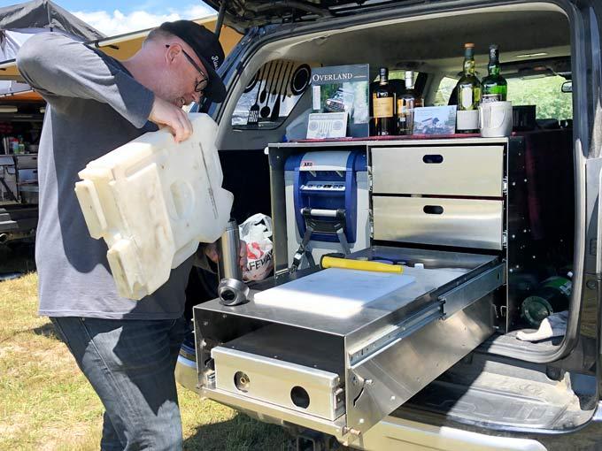 overland truck bed kitchen