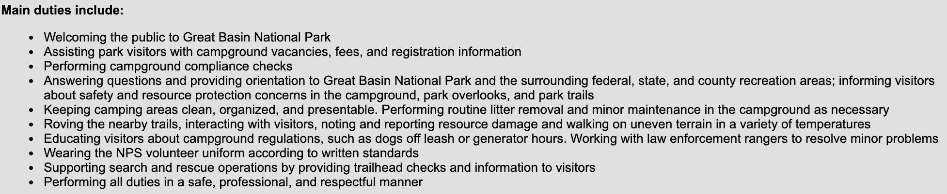 national park camp host jobs
