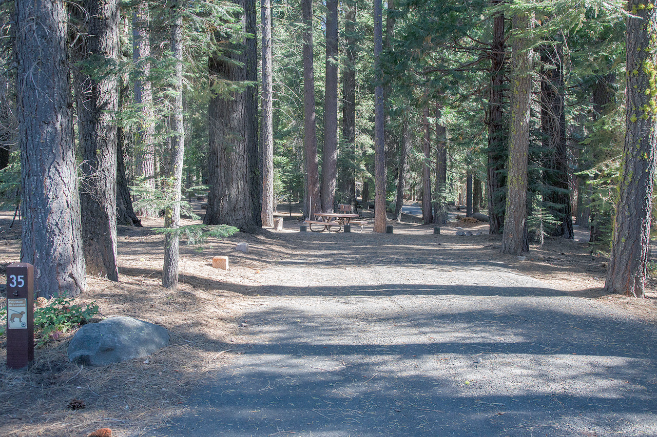 secluded Lake Tahoe campsites for RVs