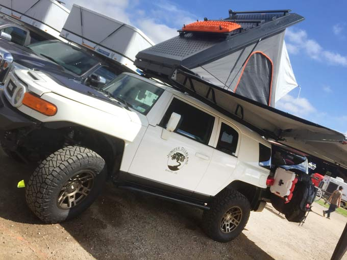 Custom overland camper with rooftop tent