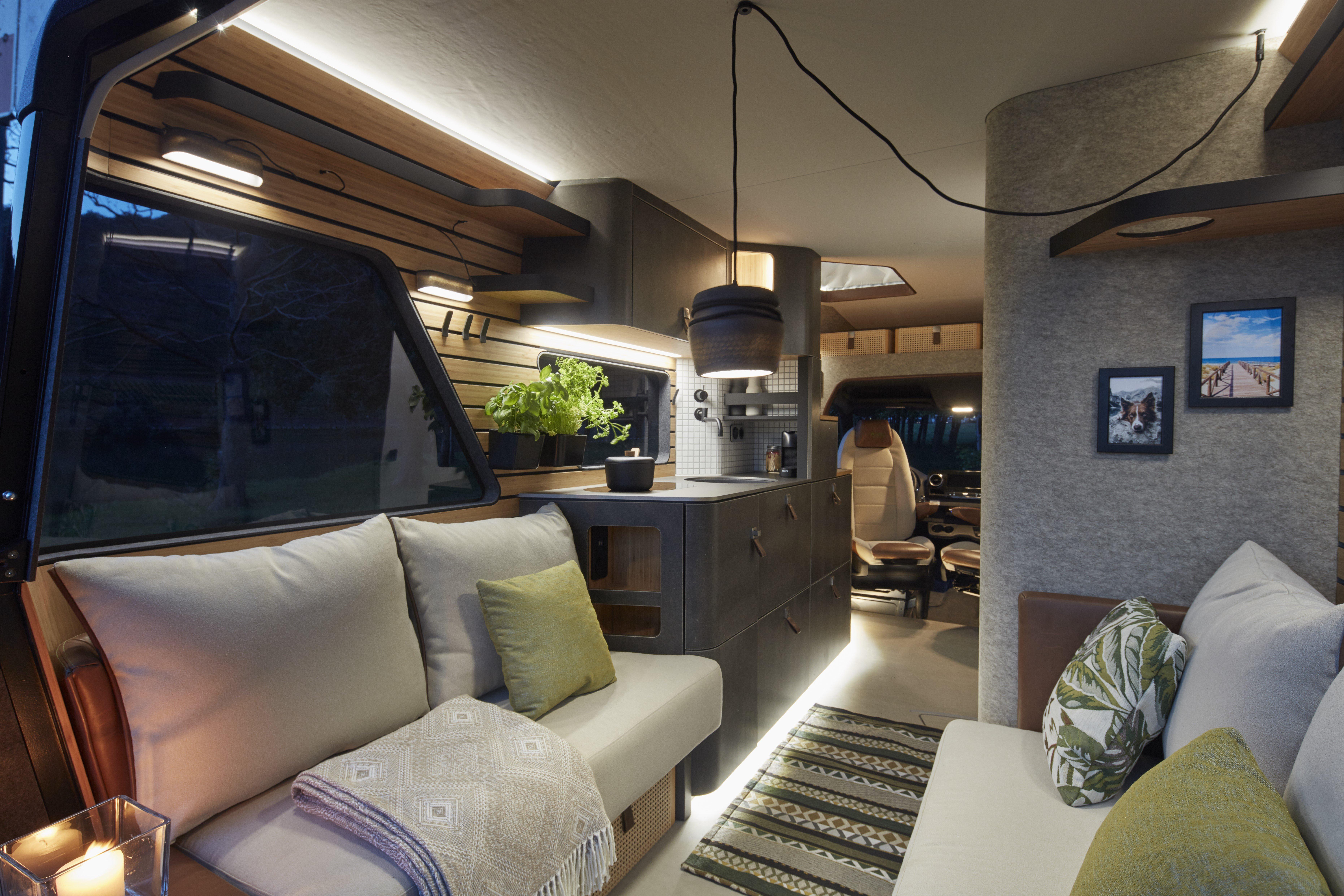 Living room of VisionVentre #VanLife Concept RV