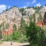 Author Enjoys Mission Canyon by Motorcycle