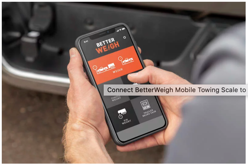 smartphone mobile towing scale