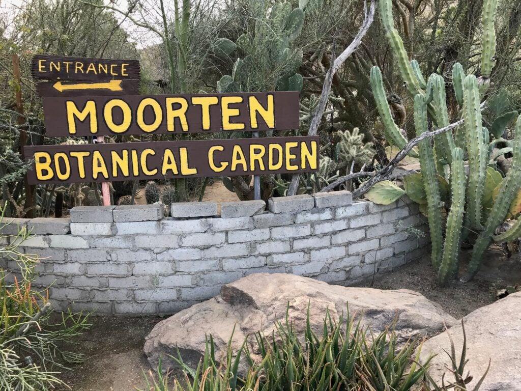 Moorten Botanical Garden sign