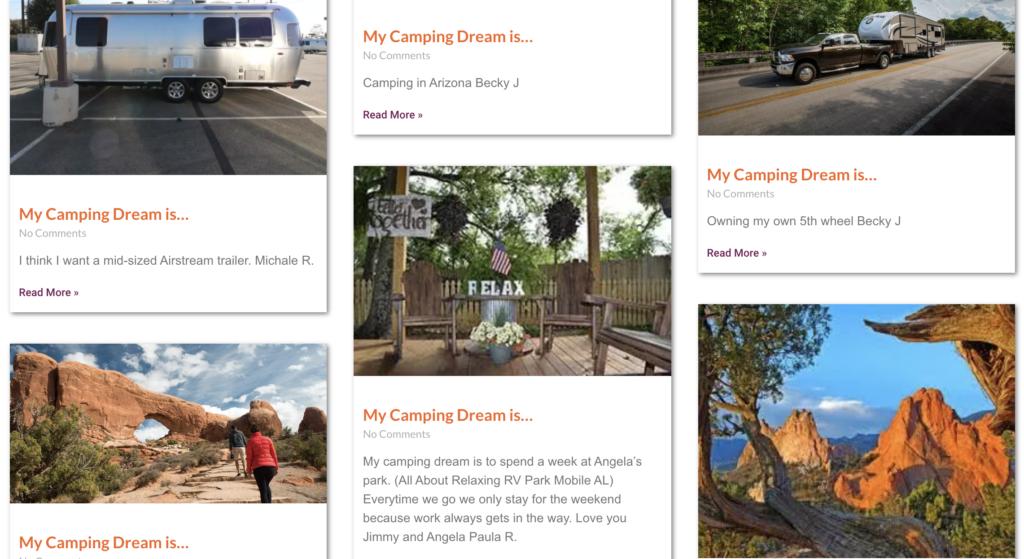 camping dream