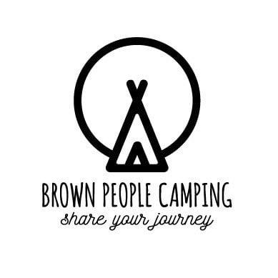 Brown People Camping Logo