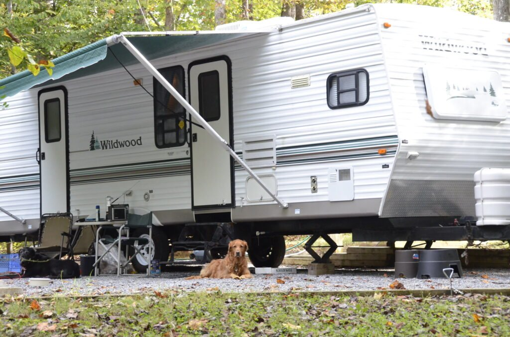 RV camping with dogs at a Virginia State Park. Photo via Flickr Creative Commons