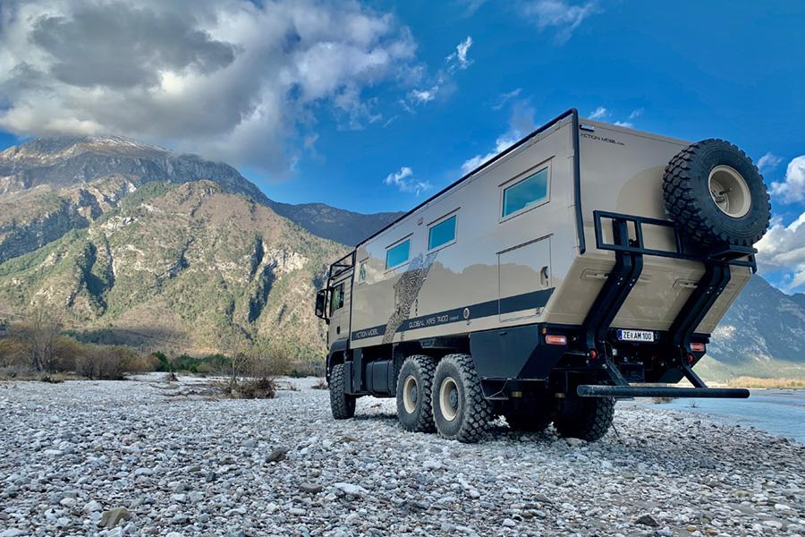Action Mobil Global xrs 7400 overland RV truck.