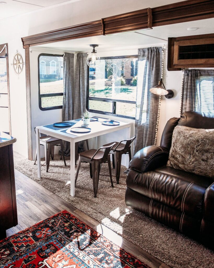 An RV can provide a quiet and isolated private space when needed