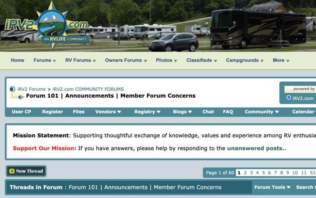 RV forums