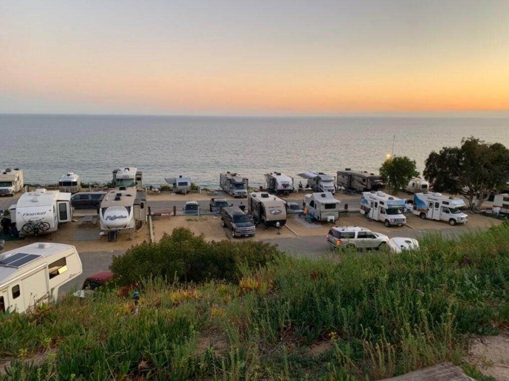 California beach RV parks