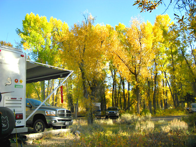 Grand Tetons Fall Camping