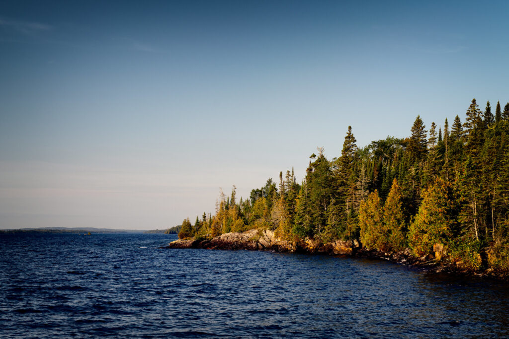 fall foliage at Isle Royale National Park