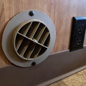 RV heater vent