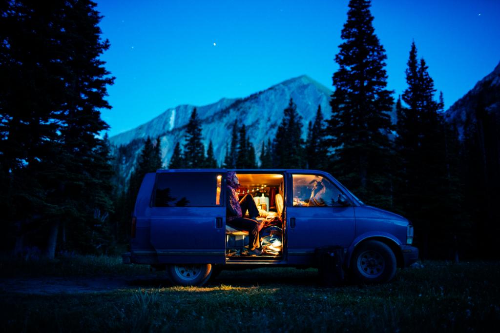 van camping