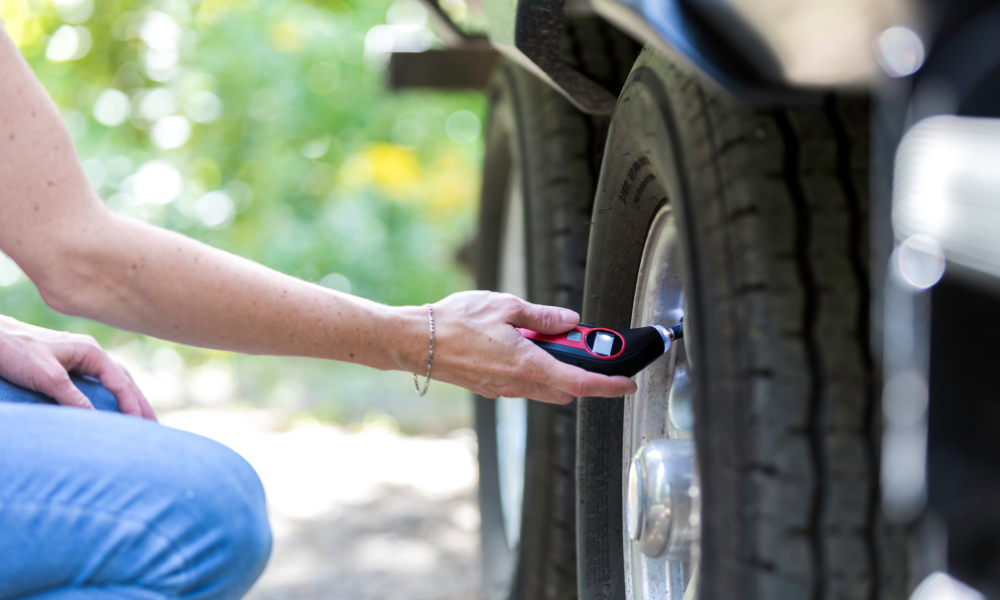 Tire pressure check - RV mechanics