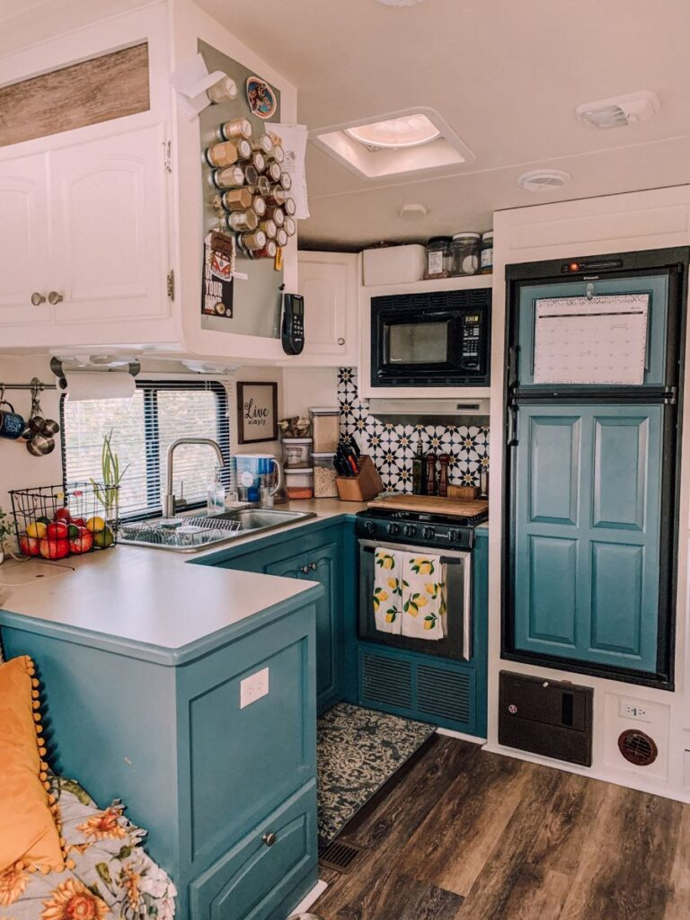 RV living - kitchen after