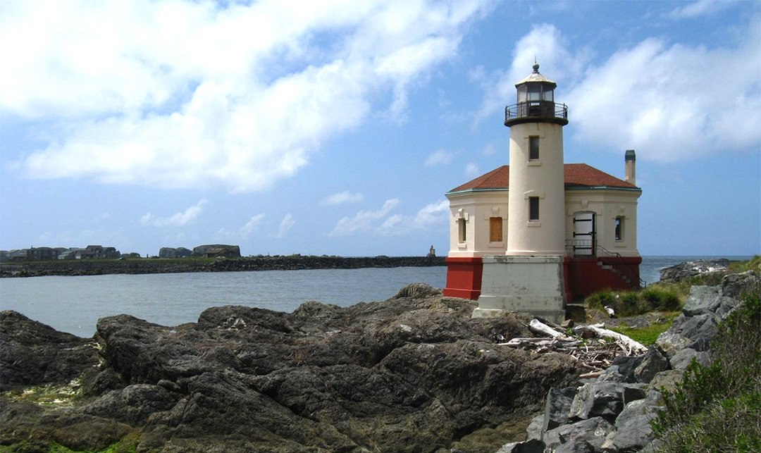Coquille River Lighthouse in Bullards Beach State Park