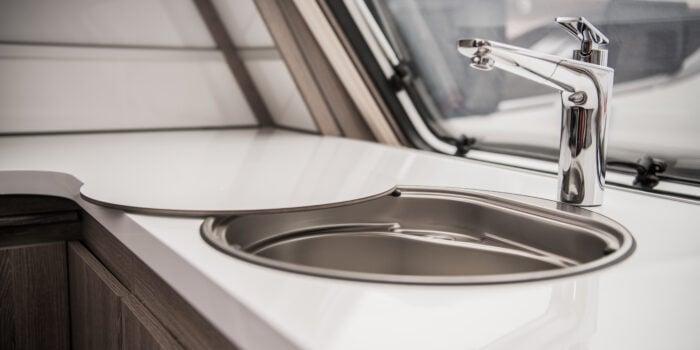 RV sink that needs an RV water softener