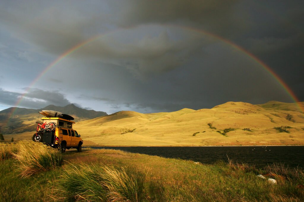 camping in a storm