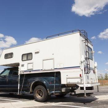 truck camper at national park
