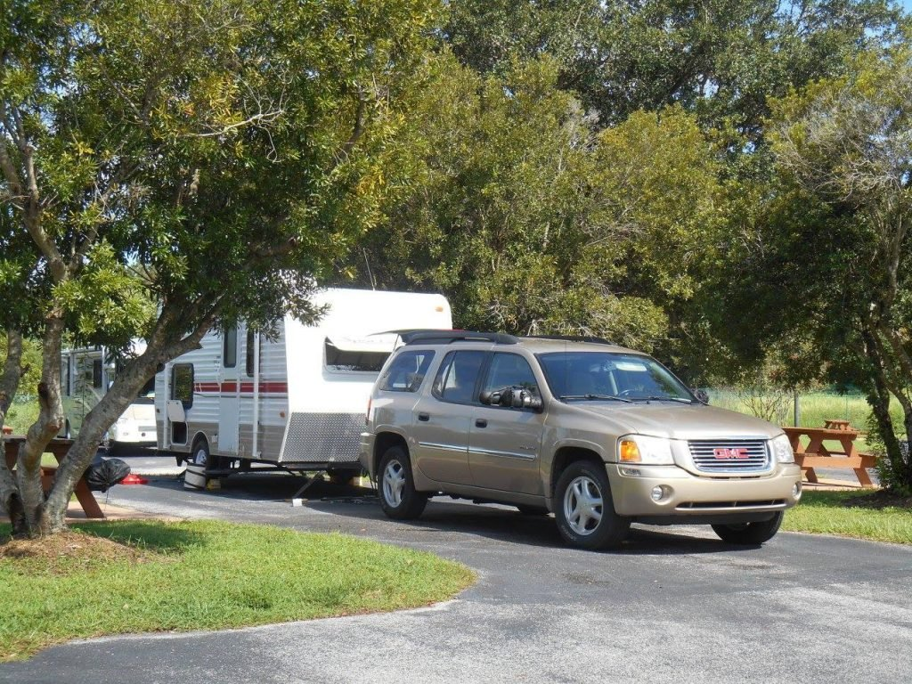 campsite at a Tampa RV park