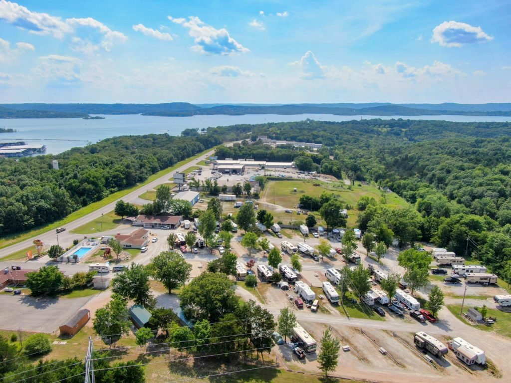 aerial view of Branson Stagecoach Campground