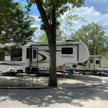 view from Branson RV park