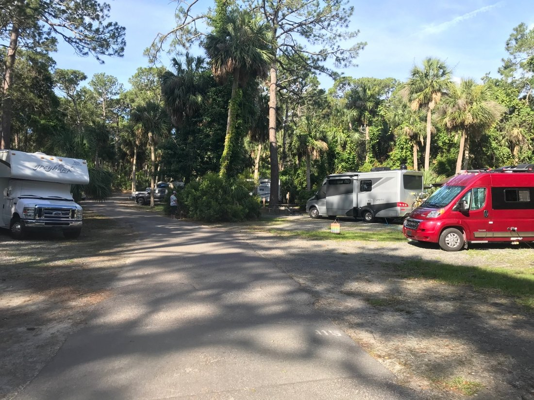 campground at Hunting Island State Park