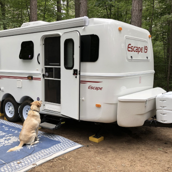 An Escape Fiberglass RV