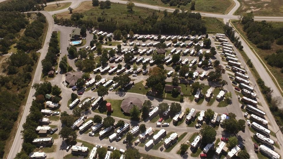 aerial view of America's Best Campground