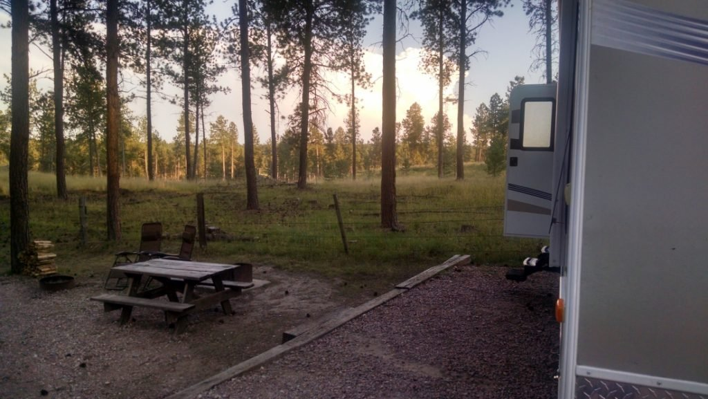 RV at big pine campground