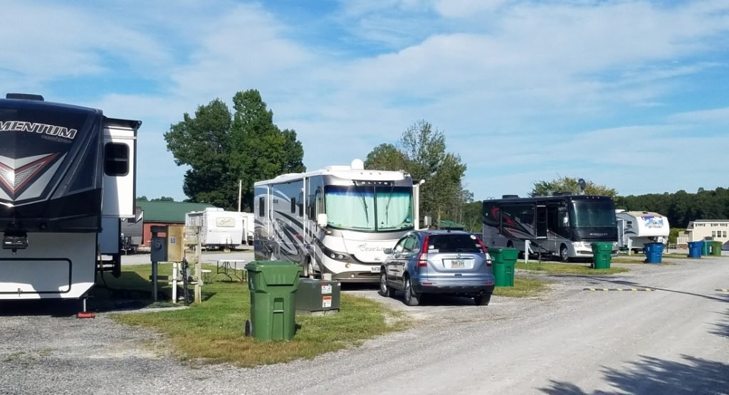 RVs at Duck Creek Park, one of the top RV parks in Kentucky